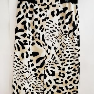 WORTHINGTON Womens Skirt Stretch Animal Print